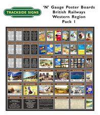 British Railways Western Region Model Railway Advertising Posters N Gauge