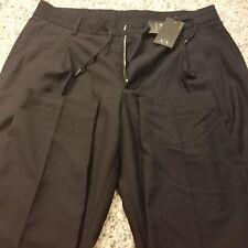 Men Armani Exchange A/X Pleat Drawstring Dress Pant 6YZP12-ZNC0Z Sizes 32-36