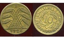 ALLEMAGNE 10  rentenpfennig  1924 D  ( bis )