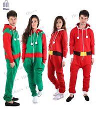 Weihnachten Herren Damen Kinder Unisex Overall Santa Elf Lot Nachtwäsche Pyjamasatz Party