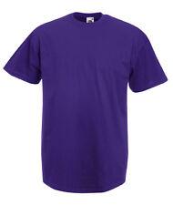 T-shirt Uomo PORPORA/PURPLE Maglietta/Maglia FRUIT OF THE LOOM Short Sleeves