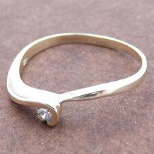 Anello Solitario da donna in oro giallo 9kt.(375‰) con diamante per fidanzamento