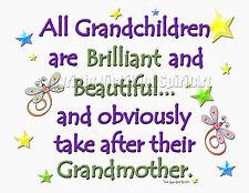 Grandchildren take after grandmother grandma granny nana child kids T-Shirt