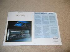 McIntosh MCD-7008 CD Changer Brochure, 1991, 2 pg,Specs