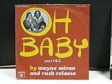 WAYNE MIRAN AND RUSH RELEASE Oh baby 45 R 12179