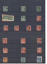 Memel, Litauen 1920, Einzelmarken aus MiNrn: 18 - 97 o, seltene Stempel o