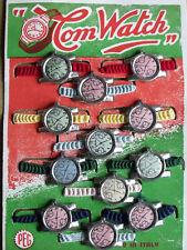 12 orologi latta giocattolo bambini  anni 50 della PEG