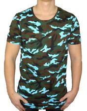 MASKO - T-Shirt Herren - camouflage / blau - Black Kaviar - Herren