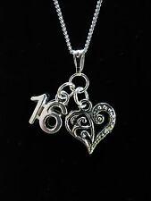 Sedicesimo compleanno regalo collana con vari charms a choose.sterling ARGENTO VARIANTE