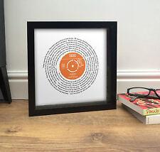 Oasis WONDERWALL | 7' Vinyl Single FRAMED PRINT | Personalised Birthday Present