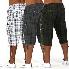 Mens Shorts Dos Pesos Bermuda con Dehnbund Cargo Capri pantaloncini corti 3/4