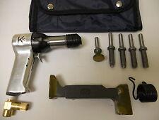 Rivet Gun Kit w/ 2x rivet Gun  Bucking Bar Rivet Sets and Tool Pouch BRAND NEW