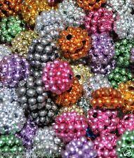 Berry Metálico Abalorios acrílicos, Redondo, aprox 10 mm color, opción para