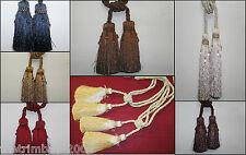 One Pair Of Twin Headed Beaded Luxury Tassel Designer Curtain Tie Backs