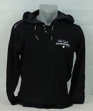 Herren Hoodie Sweatshirt T-Shirt Polo Shirt Sommer Leicht schwarz/weiß / XS - L
