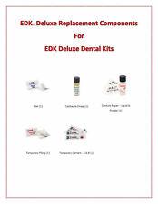 EDK Deluxe Emergency Dental Repair Kit components Fillings-Teeth and Dentures