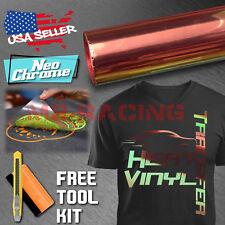"Neo Chrome Bronze Heat Transfer Vinyl HTV T-Shirt 20"" Wide Iron On / Heat Press"