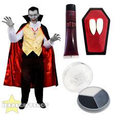 Adulte vampire halloween costume robe fantaisie homme chemise crocs sang face paint