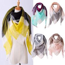 Fashion Women Casual hawl Cashmere Autumn Plaid Wool Scarves Scarf Perfect CA