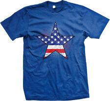 Star Fourth July America USA Distressed Dots Light Flag Stars US Men's T-Shirt