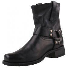 Nuevo SENDRA BOTAS de hombres 9795 motociclista motocicleta Zapatos Negros