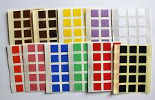 10mm Forma Cuadrada De Color Pegatinas Etiquetas Adhesivas