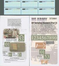 Echelon 1/72 #D726061 US Army OIF Battalion Numbers (Part.3)