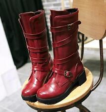 stivali stivaletti marrone rosso nero tacco 5 cm simil pelle comodi 9385 top