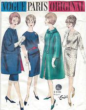1960 Vintage VOGUE Sewing Pattern COAT & DRESS B36 (1170R) By Gres