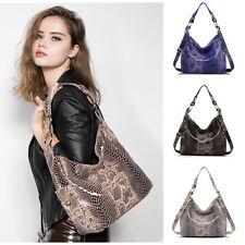 Realer Luxury Snake Skin Women Handbag Genuine Leather Tote Ladies Shoulder Bag