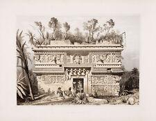"Frederick Catherwood : ""Las Monjas Chichen Itza"" (1844) — Giclee Fine Art Print"