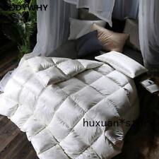 Jacquard Silk Goose Down Duvet 3d Quilt King Queen Full Size Comforter Winter
