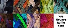 KFI Flounce Super Bulky Ruffle Scarf Trim Yarn 100g Color Choice Knit Crochet FS