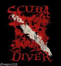 Amphibious Outfitters T-Shirt - Scuba Diver - Black - Dive Flag - D0206B