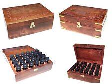 Aromaterapia oli essenziali intagliati legno contenitore BOX-Seleziona Taglia