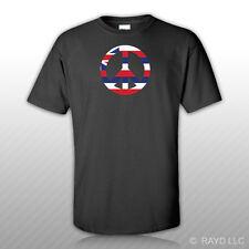 Hawaii Flag Peace Symbol T-Shirt Tee Shirt Cotton Hi sign no war