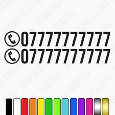 Etiqueta personalizada número de teléfono, número de teléfono van calcomanías, coche, tienda número de teléfono x2