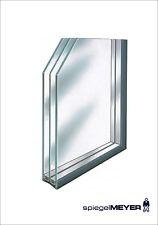 Isolierglas 3 fach nach Maß Fensterglas Wärmeschutzglas jede Größe -Stärke
