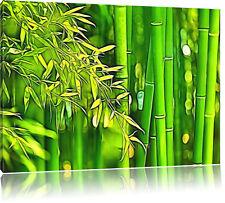 Bambuswald Leinwandbild Wanddeko Kunstdruck
