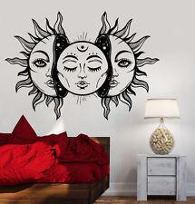 Vinyl Wall Decal Art Sun Star Moon Bedroom Decor Fairy Tale Stickers (1292ig)
