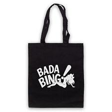 BADA BING UNOFFICIAL SOPRANOS MAFIA STRIP CLUB LOGO TOTE BAG LIFE SHOPPER