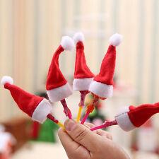 30Pcs Mini Santa Claus Hat Christmas Party Xmas Decor Holiday Lollipop Top GS