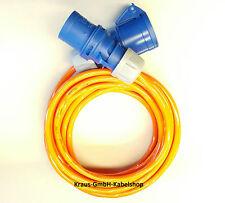 CEE Azul 16a ALARGADOR h07bq-f 3x2, 5 cables de caravana AB 3m POLIURETANO
