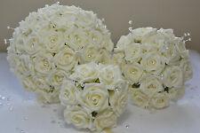 Wedding bouquet buttonhole corsage posy pearl diamante flowers bridesmaid bride
