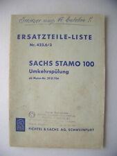 Sachs-Stamo 100 Ersatzteile-Liste Nr. 424.6/3 Fichtel & Sachs Umkehrspülung