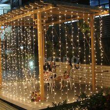 6Mx3M/3Mx3M Xmas Tree Lights String LED Wedding Curtain Lighting Mesh Net Garden