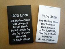 200 Printed Content Care Labels - 100% Linen