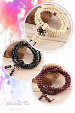 Sandalwood Buddhist Tibetan 108 Prayer Beads Mala Wood Bracelets/Necklace 28cm
