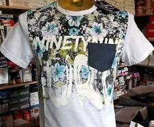 T-shirt uomo Guru manica corta in cotone con stampa floreale e logo art G993155