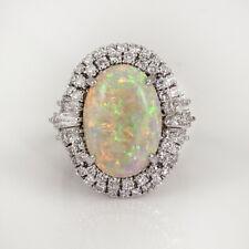Fashion Oval Cut Opal 925 Silver Rings Jewelry Women Wedding Ring Size 6-10
